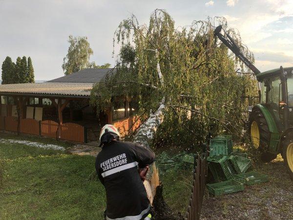 T07-Unwetter vom 14.07.2018  |  © Feuerwehr Sebersdorf (2018)