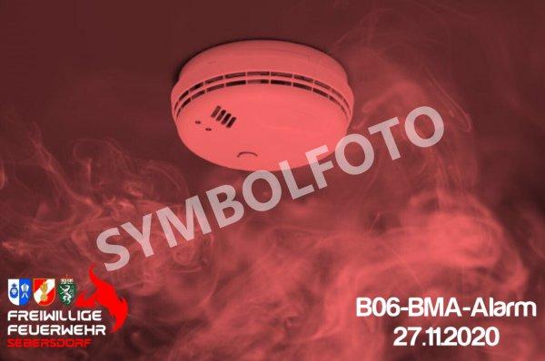 B06-BMA-Alarm vom 27.11.2020  |  © Feuerwehr Sebersdorf (2020)