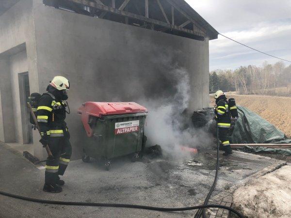 B02-Müll-Cont vom 11.03.2018  |  © Feuerwehr Sebersdorf (2018)